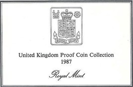 1987 Great Britain 7 Coin 2 Page C.O.A. Document Set~Free Shipping - $3.42