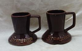 Vintage Frangelico Coffee Mugs // Brown Travel Mugs // Drink Cups // Bar... - $8.00