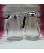 Two Vintage Retro Syrup Dispenser Creamer Pitcher by DUPONT Vintage Tab... - $15.00