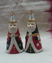 Vintage Christmas / Holiday Decor Cone Shaped Santa Clause Salt & Pepper... - $10.00