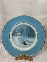 "Avon 1976 Christmas Plate Series Third Edition ""Bringing Home The Tree"""