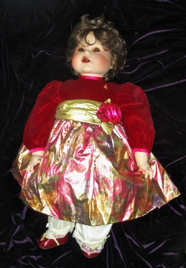 "Marie Osmond Jessica's First Christmas Porcelain big Toddler Doll 23"" 1993"