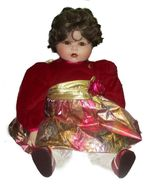 "Marie Osmond Jessica's First Christmas Porcelain big Toddler Doll 23"" 1993 - $29.00"