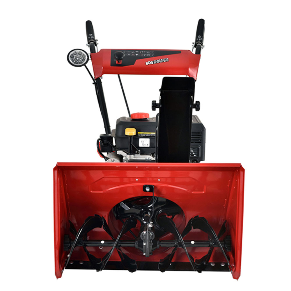 gas snow blower amico power 22 quot 212cc two stage electric start gas snow 10910