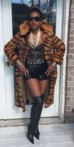 Mint Couture Designer Ben Khan full length Animal Print Mink Fur coat ja... - $1,399.99
