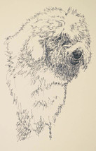 Old English Sheepdog Signed Art Dog Lithograph ... - $39.55