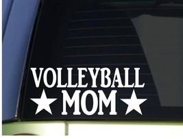 Volleyball Mom sticker *H314* 8.5 inch wide vinyl serve spike beach shorts - $3.19