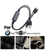 BMW Mini Cooper iPod iPhone 5 5s 6 Plus Interface Audio USB Y Cable AUX ... - $8.50