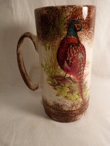 "Lovely Handpainted Pheasant 7"" Mug Signed Shirley Jones - $31.99"