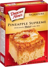 Duncan Hines Signature Pineapple Supreme Cake Mix 16.5 Oz. (4 Pack) - $28.70