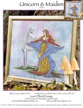Unicorn & Maiden JE015 cross stitch chart Joan Elliott Designs - $14.00
