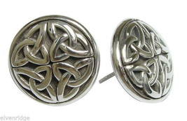 925 Sterling Silver Celtic Knot Design Stud  Earrings