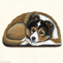 Small Sheltie Shetland puppy pupperweight paperweight USA made - $14.84