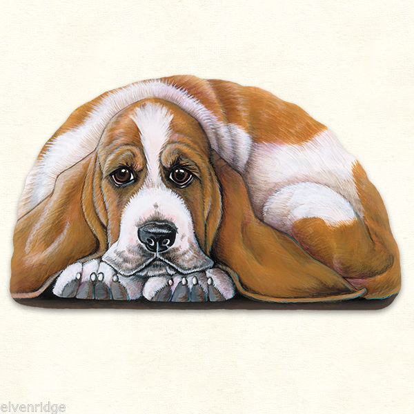 Small Bassett Dog puppy pupperweight paperweight USA made