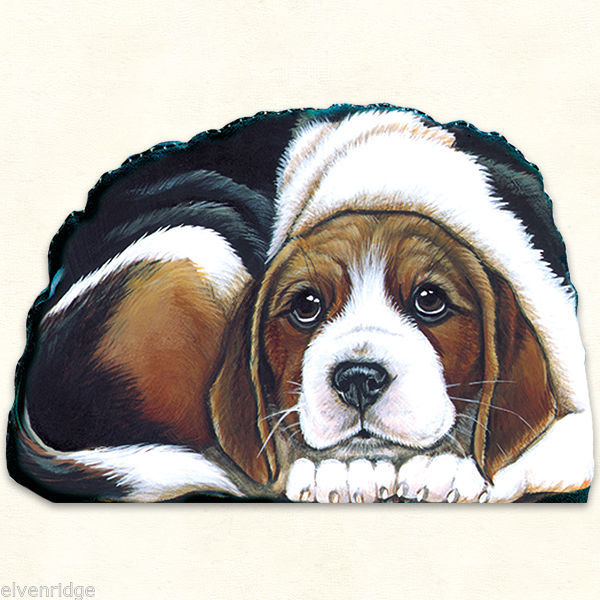 Small Beagle puppy pupperweight paperweight USA made