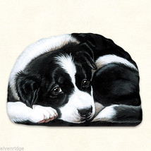 Small Border Collie puppy pupperweight paperweight USA made - $14.84