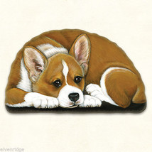 Small Bi-Color Corgi  puppy pupperweight paperweight USA made - $14.84