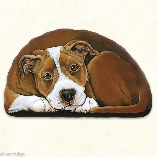 Small Pit Bull puppy pupperweight paperweight USA made