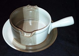 Mikasa Potters Art Studio Kiln Gravy Boat with Underplate - $32.71