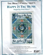 The Design Connection's Happy is the Home..Counted Cross Stitch Kit - $13.09