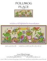 Polliwog Place JE018 frog cross stitch chart Joan Elliott Designs - $14.00