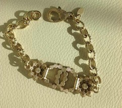 Authentic CHANEL Cluster Crystal CC Gold Chain Bracelet RARE NEW image 7