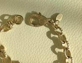 Authentic CHANEL Cluster Crystal CC Gold Chain Bracelet RARE NEW image 8