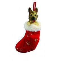 GERMAN SHEPHERD DOG STOCKING CHRISTMAS SANTA'S LITTLE PALS ORNAMENT HOLIDAY - $9.75
