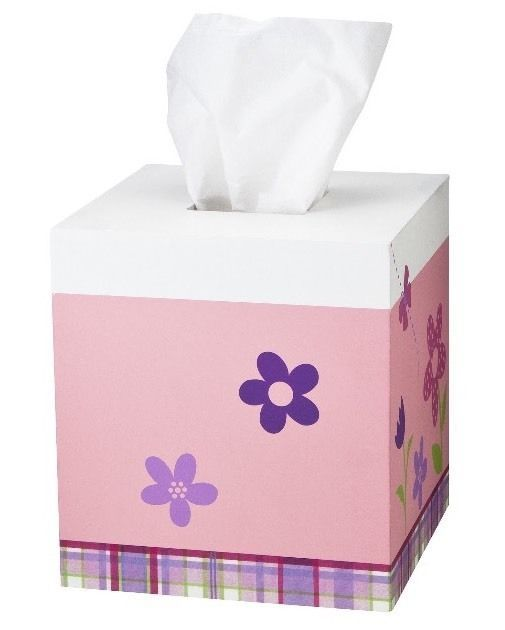 CIRCO Happy Flower Tissue Box Cover Bathroom Bedroom New Pink Floral Purple - $13.49