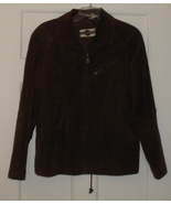 Ladies Outbrook Suede Leather Jacket Size Medium - $30.00