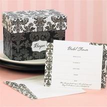 Bridal Shower Invitations Set Damask Recipe Box Bridal Shower Gifts - $21.38