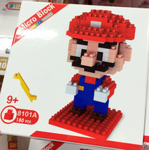 Super Mario Bros Figure Toys Building Blocks Nanoblock World Party For N... - $10.12