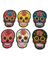 Mexican Aztec Sugar Skull Applique Iron On Patch Embroidered Mayan Ruins Mexico - $12.86 - $16.90