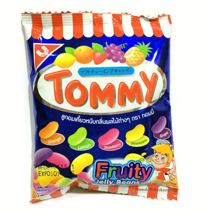 New Thai Fruit Flavored Tommy Jelly Belly Beans Candy Bean Desserts Snacks 30 g - $16.95