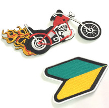 Motorcycle Patches For Vests Embroidered Iron On Patch Biker Leather Up ... - $5.40+