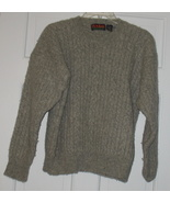 Jos. A. Bank Grey Cable Knit Pullover Sweater Sz Large - $15.50