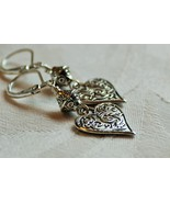 Silver Heart earrings - $20.00