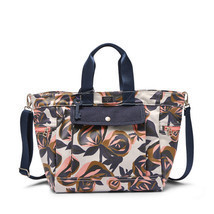 FossilDawson Floral Cotton Canvas With PVC Sheeting Magnetic Snap Tote &... - $259.99