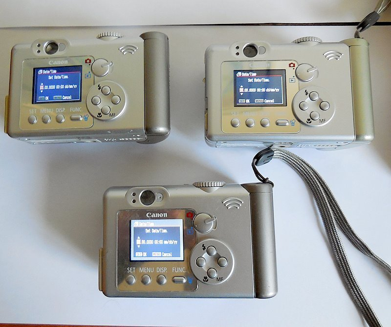 Lot of 3 Canon PowerShot A70 3.2 Digital Cameras