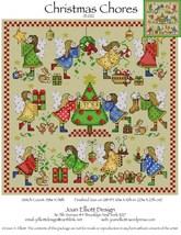 Christmas Chores JE022 cross stitch chart Joan Elliott Designs - $14.00