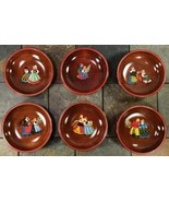 Folk Art Hand Painted German Amish Pennsylvania Dutch Wooden Bowls VTG- ... - $79.16
