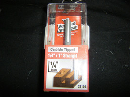 "Vermont American 3/16"" x 1/2"" Single Flute Carbide Tip Router Bit 23101 - $9.89"