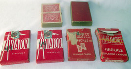 Pinochle Playing Cards Aviator Streamline Alchester Vtg Crafts Tax Stamp... - $19.78