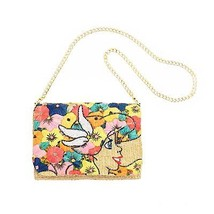 Accommode Little Mermaid Ariel Flower Clutch Bag Chain shoulder wallet b... - $282.15