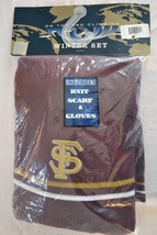 San Francisco 49'ers 2pc Winter Set-Collegiate-Knit Scarf & Gloves - NEW - $21.99
