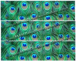Peacock Print Edible Cake Strips ~ Design 1 - $7.75