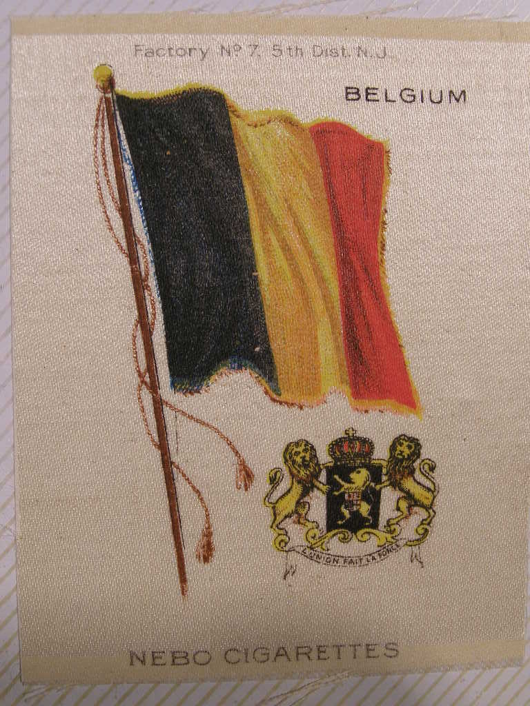 Primary image for NEBO CIGARETTES SILKS - BELGIUM FLAG - (sku#1919)