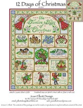 12 Days Of Christmas JE024 cross stitch chart Joan Elliott Designs - $14.00