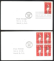 Amelia Earhart First Day Covers single & block of 4; July 24, 1963 Atchison Kans - $2.99