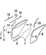 2009-2013 G37 Infiniti Sedan Rear Left Door OEM Weatherstrip Seal 82831J... - $49.00